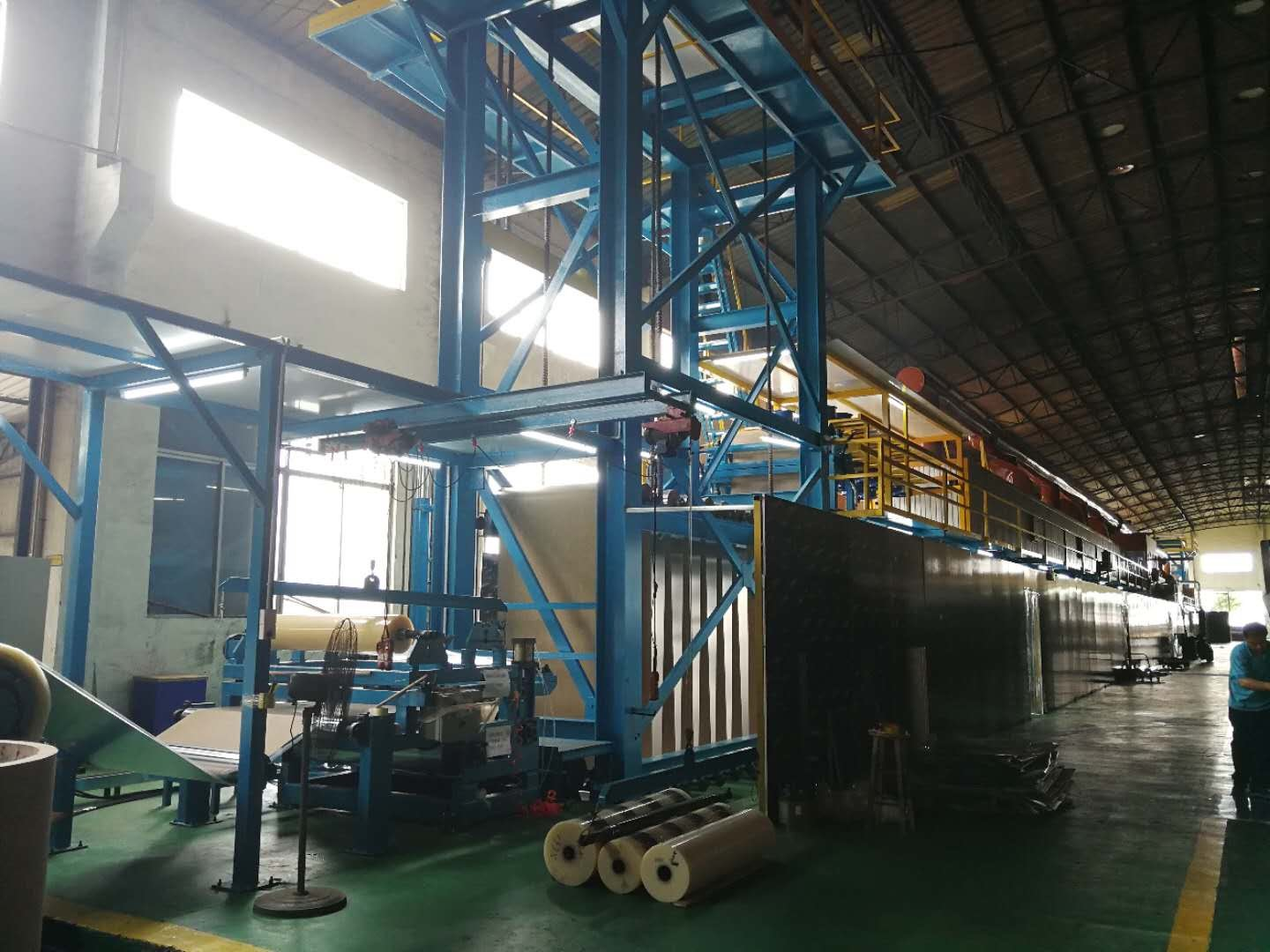 The new production line for color coated aluminum has set up